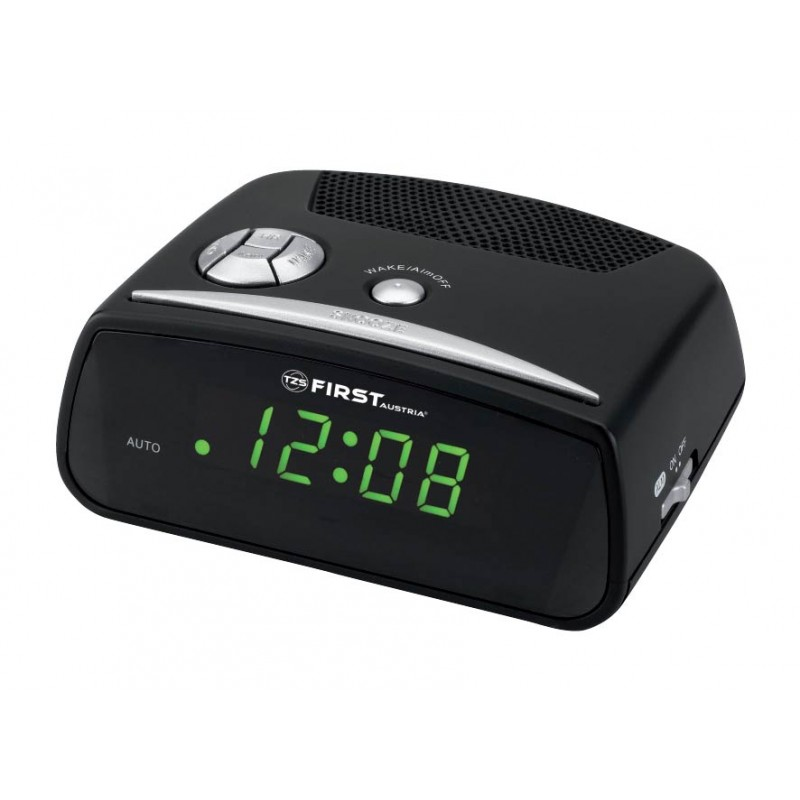0 6 Green Led Alarm Clock Quartz Fa 2410 First Timetron Bulgaria