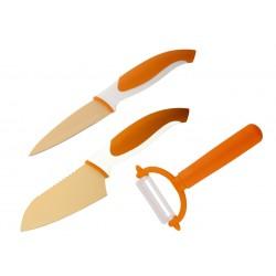 Комплект ножове COLTELLO ОРАНЖЕВ 3 ЧАСТИ GRANCHIO
