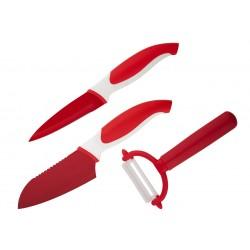 Комплект ножове COLTELLO ЧЕРВЕН 3 ЧАСТИ GRANCHIO