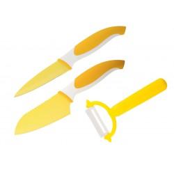 Комплект ножове COLTELLO ЖЪЛТ 3 ЧАСТИ GRANCHIO